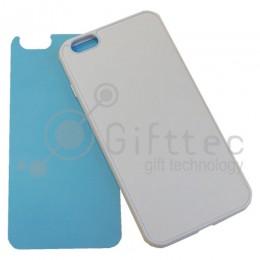 IPhone 6/6S PLUS - Белый силиконовый чехол (вставка под сублимацию)