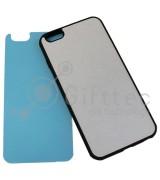 IPhone 6/6S PLUS - Черный силиконовый чехол (вставка под сублимацию)
