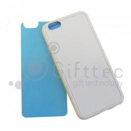 IPhone 6/6S - Белый силиконовый чехол (вставка под сублимацию)