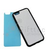 IPhone 6/6S - Черный силиконовый чехол (вставка под сублимацию)