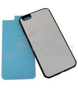IPhone 6/6S PLUS - Черный чехол пластиковый (вставка под сублимацию)