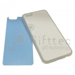 IPhone 6/6S - Прозрачный силиконовый чехол (вставка под сублимацию)