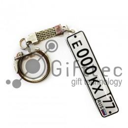 Брелок для ключей ГОСНОМЕР с прозрачной линзой (комплект для изготовления брелока) упаковка 10шт