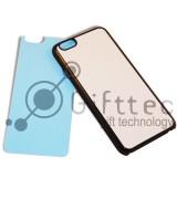 IPhone 6/6S - Черный чехол пластиковый (вставка под сублимацию)