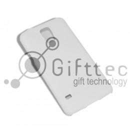 Samsung S5 - Белый чехол глянцевый пластик (для 3D - сублимации)