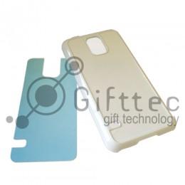 Samsung Galaxy S5 - Белый чехол пластиковый (вставка под сублимацию)