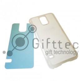 Samsung Galaxy S5 - Прозрачный чехол пластиковый (вставка под сублимацию)