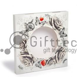 Коробка подарочная для тарелки с окном