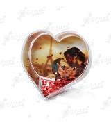 Шар водяной в форме сердца, под полиграфическую вставку с хлопьями в виде сердечек