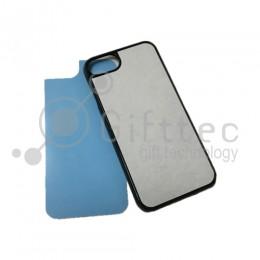 IPhone 7 - Черный чехол пластиковый (вставка под сублимацию)