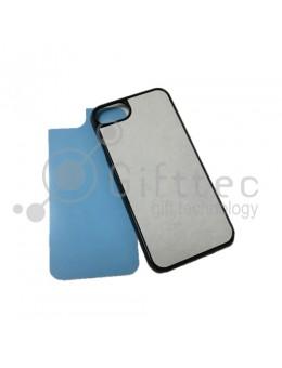 IPhone 7/8 - Черный чехол пластиковый (вставка под сублимацию)