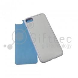 IPhone 7 - Белый силиконовый чехол (вставка под сублимацию)