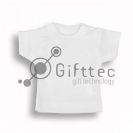 Мини-футболка сувенирная БЕЛАЯ, ложная сетка для сублимации
