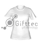 Футболка женская белая (круглое горло) Classic, синтетика/хлопок (сэндвич) р.52 (XXL) для сублимации