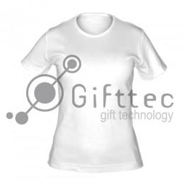 Футболка женская белая (круглое горло) Classic, синтетика/хлопок (сэндвич) р.50 (XL) для сублимации