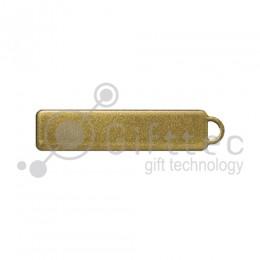Брелок для ключей ГОСНОМЕР ЗОЛОТО под сублимацию (комплект для изготовления брелока) упаковка 10шт