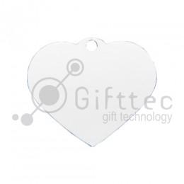 Брелок для ключей металический Сердце БЕЛЫЙ упаковка 10шт для сублимации