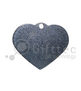 Брелок для ключей металический Сердце СЕРЕБРО упаковка 10шт для сублимации