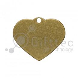 Брелок для ключей металический Сердце ЗОЛОТО упаковка 10шт для сублимации