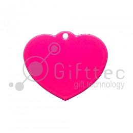 Брелок для ключей металический Сердце РОЗОВЫЙ упаковка 10шт для сублимации