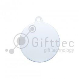 Брелок для ключей Круг (медальон) БЕЛЫЙ упаковка 10шт для сублимации