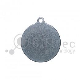 Брелок для ключей Круг (медальон) СЕРЕБРО упаковка 10шт для сублимации