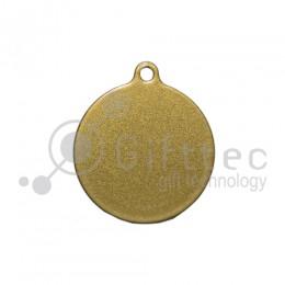 Брелок для ключей Круг (медальон) ЗОЛОТО упаковка 10шт для сублимации