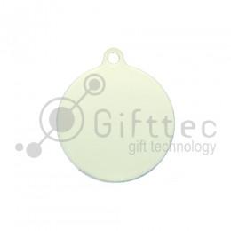 Брелок для ключей Круг (медальон) ФЛУОРЕСЦЕНТНЫЙ упаковка 10шт для сублимации