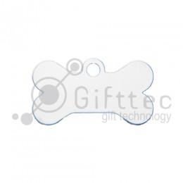 Брелок для ключей металический Кость (Адресник малый) БЕЛЫЙ упаковка 10шт для сублимации