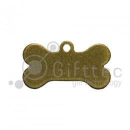 Брелок для ключей металический Кость (Адресник малый) ЗОЛОТО упаковка 10шт для сублимации