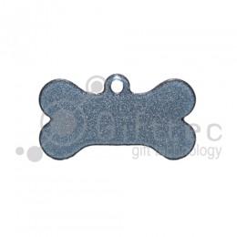 Брелок для ключей металический Кость (Адресник малый) СЕРЕБРО упаковка 10шт для сублимации