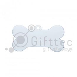 Брелок для ключей металический Кость (Адресник большой) БЕЛЫЙ упаковка 10шт для сублимации