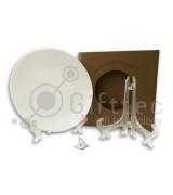 Тарелка круглая d=20см (для 3D-машины вакуумной) с подставкой и подвесом для сублимации