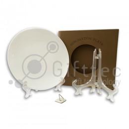 Тарелка круглая d=20см (для 3D-машины вакуумной) с подставкой и подвесом
