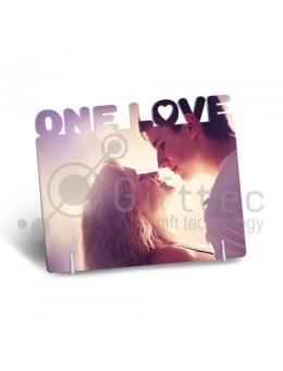 "Фоторамка металлическая ""One Love"" 140х168х1,2мм под сублимацию"