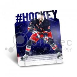 """Фоторамка металлическая """"#Хоккей"""" 172х142х1,2мм под сублимацию"""
