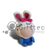 3D Игрушка Заяц СИНИЙ (размер 8-10 см) запечатка 5х5см / 2-PD2