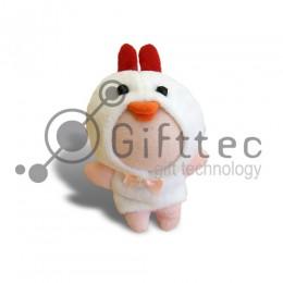 3D Игрушка Цыпленок БЕЛЫЙ (размер 8-10 см) запечатка 5х5см / 2-PD7