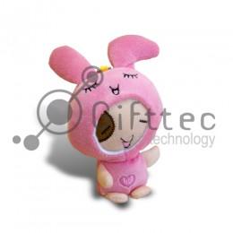 3D Игрушка Кролик Розовый с присоской (размер 12 см) запечатка 5х5см / 2-PD20