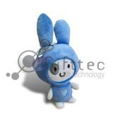 3D Игрушка Кролик СИНИЙ с присоской (размер 12 см) запечатка 5х5см / 2-PD21