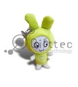 3D Игрушка Кролик ЗЕЛЕНЫЙ с присоской (размер 12 см) запечатка 5х5см / 2-PD23