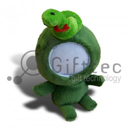 3D Игрушка Змея (размер 14 см) запечатка 5х5см / 2-PD35