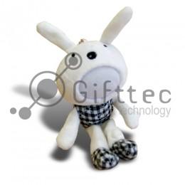 3D Игрушка Кролик чб (размер 20 см) запечатка 5х5см / 2-PD38