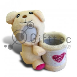 3D Игрушка Медвежонок с подставкой (размер 15 см) запечатка 5х5см / 2-PD48