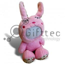 3D Игрушка Кролик Большой, запись голоса 7 сек. (размер 21 см) запечатка 5х5см / 2-PD50