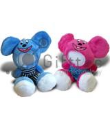 3D Игрушка Влюбленная Мышка комплект 2шт. (размер 18 см) запечатка 5х5см / 2-PD53