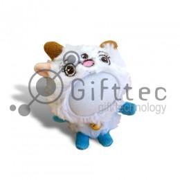 3D Игрушка Овца ГОЛУБЫЕ ножки (размер 12 см) запечатка 5х5см / 2-PD64