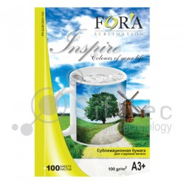 Фотобумага FORA сублимационная 100гр А3+ 100 листов