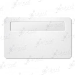 Бейдж 76х51мм с окном 60х12мм (белый SU01), упаковка 10шт