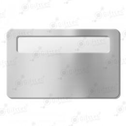 Бейдж 76х51мм с окном 60х12мм (серебро глянец SU23), упаковка 10шт